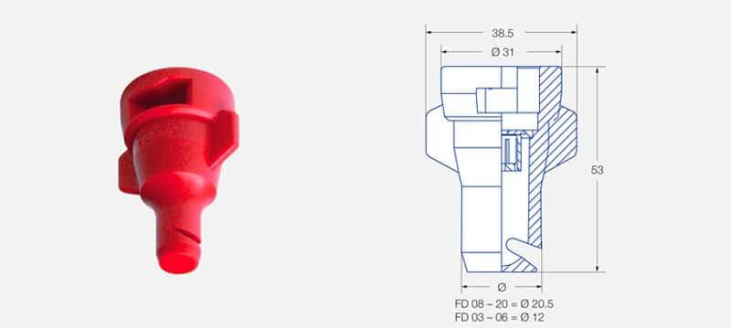 fddis - Дефлекторний розпилювач для рідких мінеральних добрив Lechler FD-05