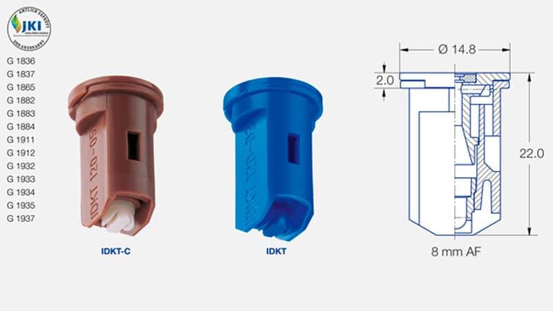 idktdis - Розпилювач інжекторний пластиковий Lechler IDKT 120-06