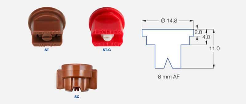 stdis - Стандартний щільовий розпилювач Lechler ST 110-02