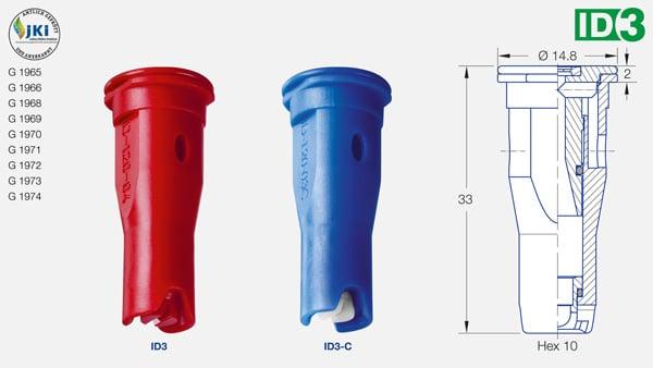 web produkte id3 1 jki 600px eng - Інжекторний керамічний розпилювач Lechler ID 120-04 C