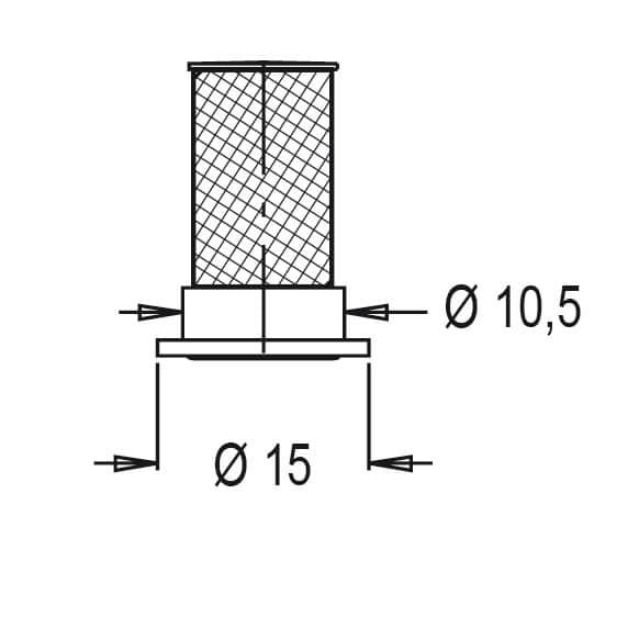 32174 - Фільтр форсунки Geoline індивідуальний (металевий) 50MESH