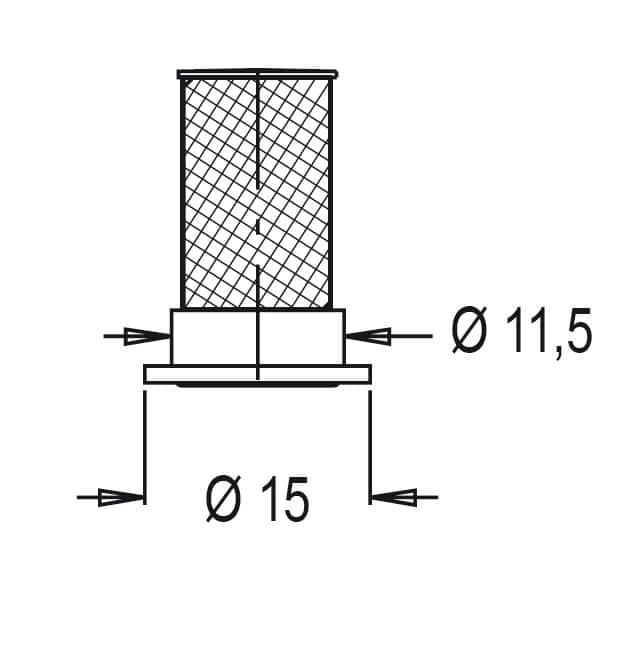 32177 - Фільтр форсунки Geoline індивідуальний (червоний) 100MESH з клапаном