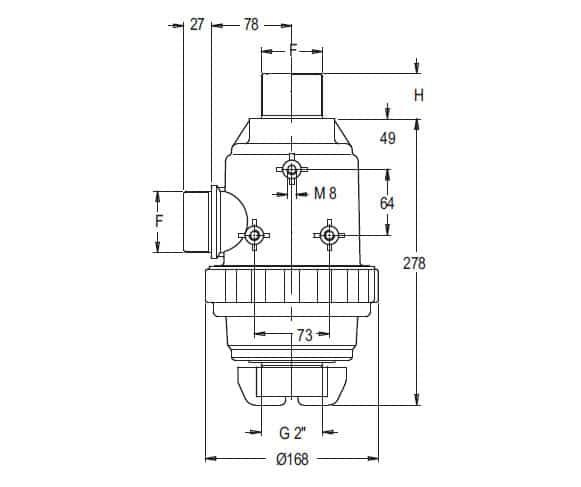 """38857 - Фільтр Geoline всмоктуючий з клапаном 180 л/хв  1"""" 1/2 М"""