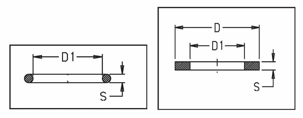 31751 - Прокладка ущільнююча Geoline 2,62х13,95 EPDM