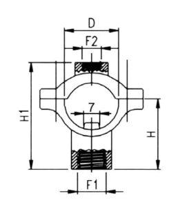 """32484 255x300 - Кріплення форсунки на трубу Geoline 20 мм 1/4"""" F"""
