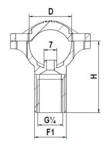 """39461 220x300 - Кріплення форсунки на трубу Geoline 20 мм 1/2"""" M"""