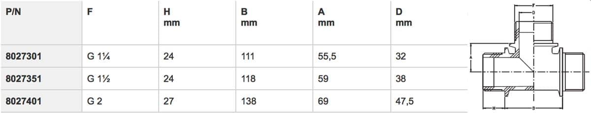 """8027351 - Трійник 1""""1/4  M-M-M"""