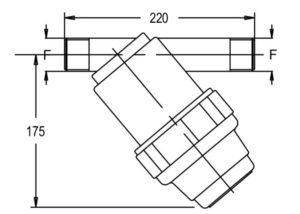 """8118014 2 300x214 - Фільтр Geoline лінійний 1"""" 1/2 M 120MESH"""