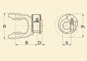 Вилка наружної труби кардана 5c д.52