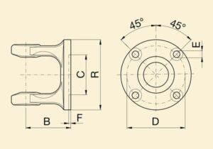 Вилка флянцева 8с М85 без отворів