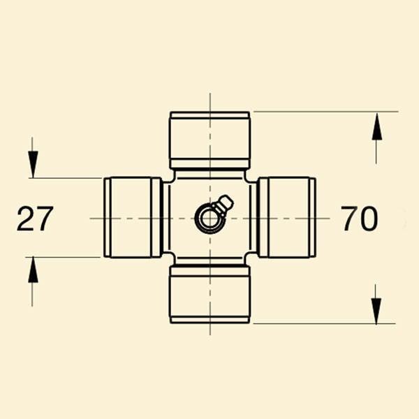Хрестовина кардана 3с 27x70