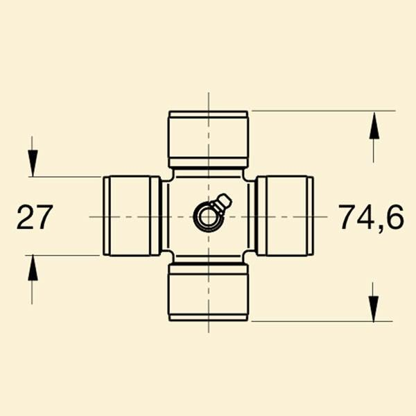 Хрестовина кардана 4с 27*74,6