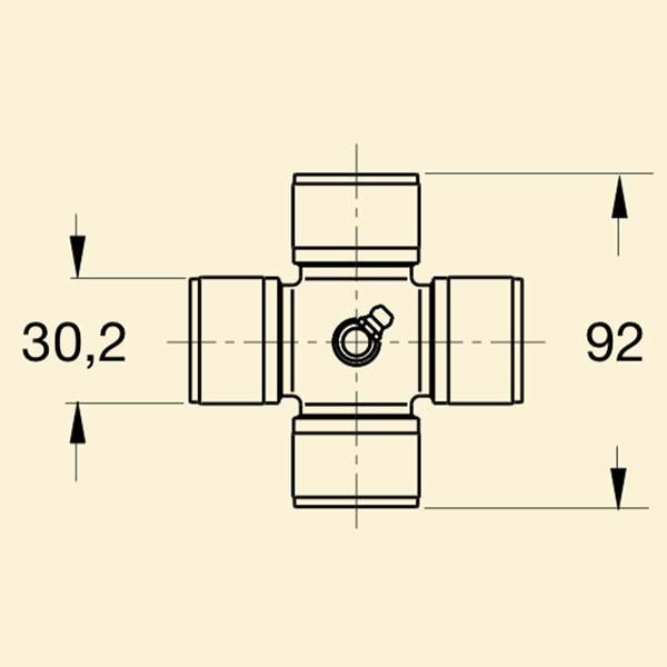 Хрестовина кардана 6с 30,2x92