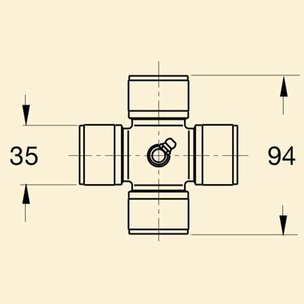 Хрестовина кардана 7с 35*94