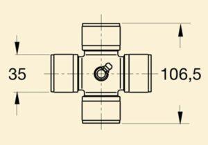 Хрестовина кардана 8с 35*106,5