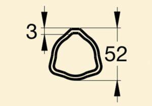 Труба 05 Е52х3 (0,6 пог.м)