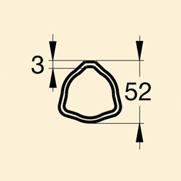 Труба 05 Е52х3 (1,3 пог.м)