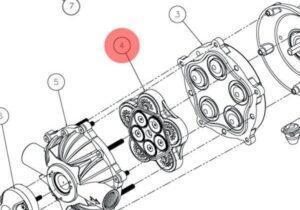 Комплект клапанів до насосу Comet 2432 0040