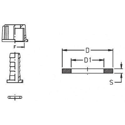 Прокладка ущільнююча Geoline 11,5х19,2х2,5 EPDM