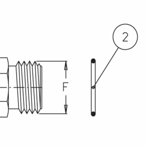 Прокладка ущільнююча 2,62x22,22